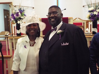 Rev Peterson and Stephanie at Installation Service